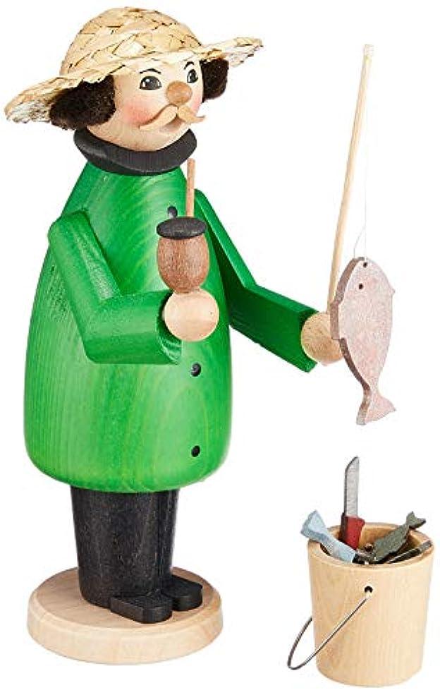 切るスペクトラム洞察力kuhnert ミニパイプ人形香炉 釣り人