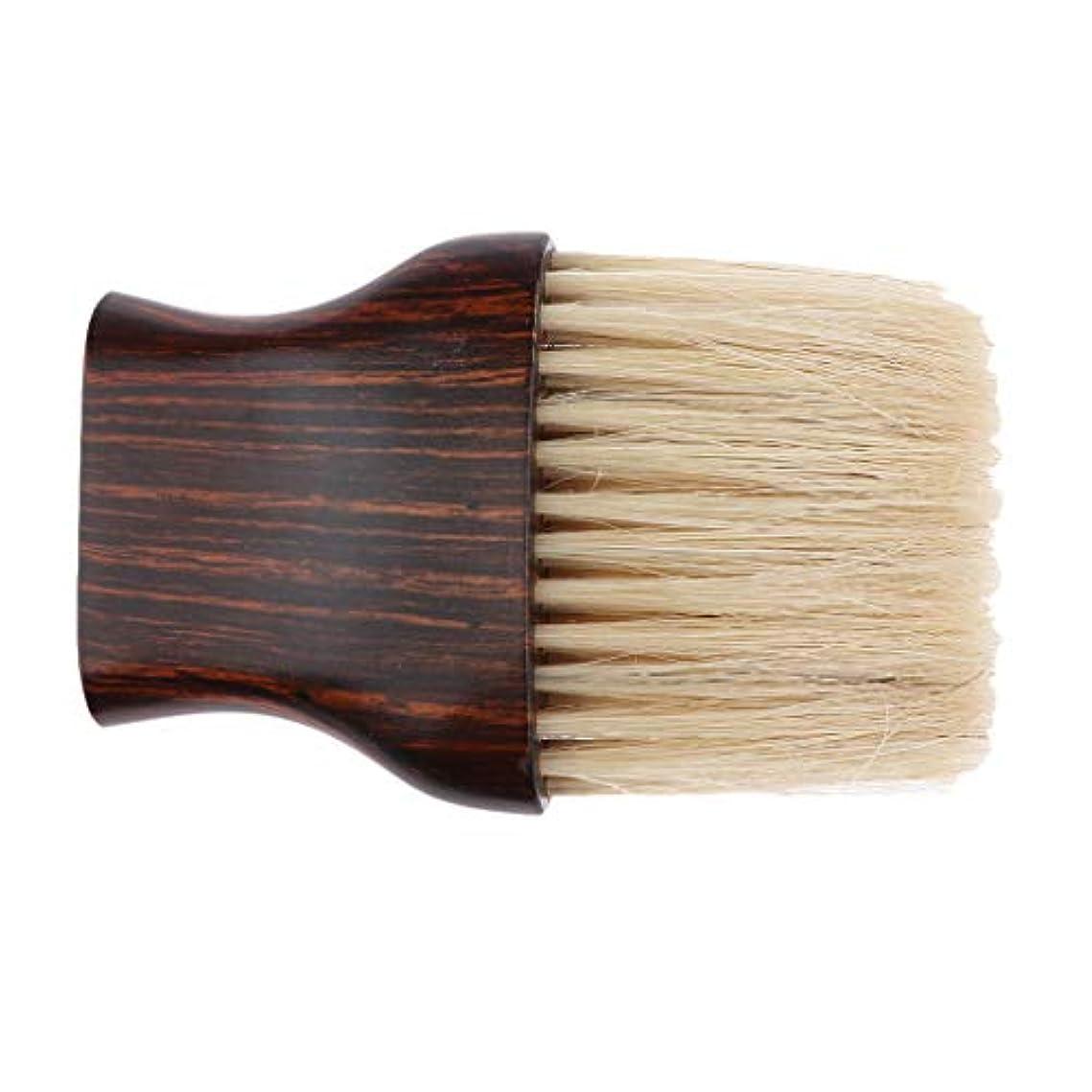 前プライム協力的Perfeclan ヘアブラシ 毛払いブラシ 木製ハンドル 散髪 髪切り 散髪用ツール 理髪店 美容院 ソフトブラシ