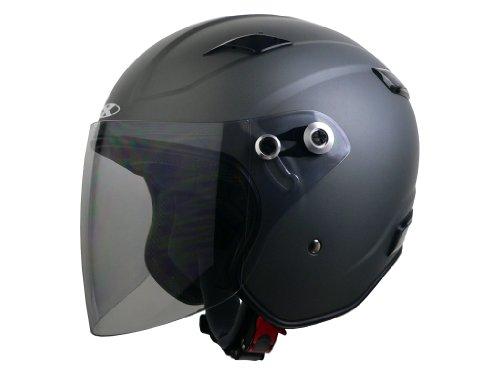 リード工業(LEAD) バイクヘルメット ジェット X-AIR RAZZO III エクストリーム スモーキーシルバー L(59~60cm未満)