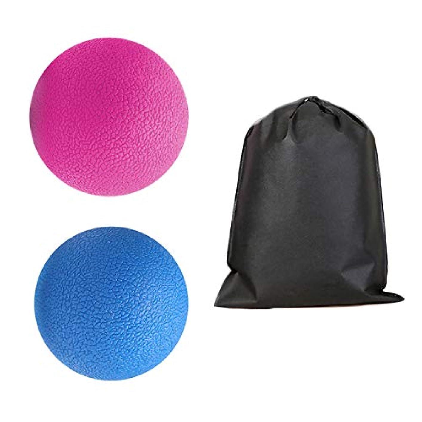 役割新しい意味ヒューマニスティックMigavan 2本マッサージボールローラーバックマッサージボール収納袋付きマッサージローラーボールマッサージャー