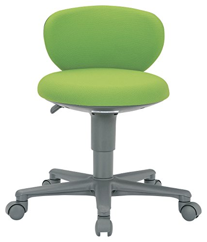AICO 事務椅子 コンパクト背付きタイプ 丸いすデスクチェア OA-250 座W410 H610  FG3ライムLM