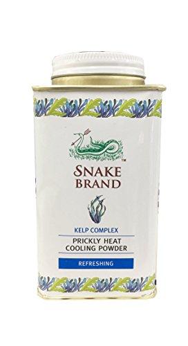 Prickly Heat Cooling Fresh Refreshing Body Powder Skin Moisture Snake Brand 140g. 爽やかなヒートクーリング新鮮なリフレッシュボディパウダースキンモイスチャースネークブランド140g。(Kelp Complex)