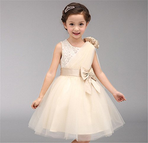 子供ドレス ピアノ発表会 子供ドレス 発表会 子どもドレス フォーマル 七五三 ジュニアドレス ベージュ 100 110 120 130 140 150 160 (130)