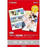 (まとめ)キヤノン 写真用紙・光沢 スタンダードSD-201A3N20 A3ノビ 0863C008 1冊(20枚) 【×3セット】