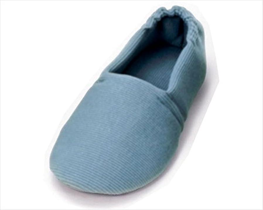 と闘う合併症つぶすあゆみシューズ エスパド ブルー Lサイズ(23.5~24.5cm) 足囲3E相当 片足(左足) [室内用] 介護シューズ