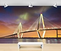 Hanhantang リビングルームのテレビの背景の壁紙の大きな建物の風景壁画3Dシームレスな壁紙C-250X175Cm