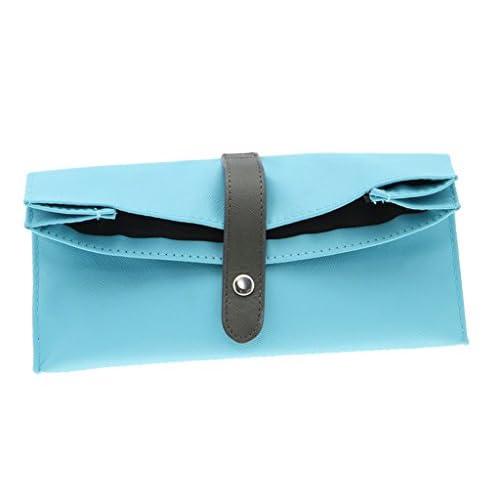 (ビグッド)Bigood 可愛い ペンポーチ 小物入れ ケース 筆箱 ペンケース おしゃれ 化粧ポーチ 帆布製 シンプル 大容量 高校生 オフィス用品 デスク収納 雑貨 ブルー