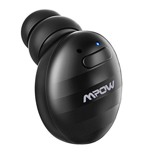 Mpow EM6 Bluetooth ヘッドセット 片耳 ブルートゥース V4.1 イヤホン 片耳 ステルス設計 超ミニ 軽量 高音質通話 最大6時間連続通話 6時間音楽再生 150時間待機 USB充電器付け 日本語マニュアル付 技適認証済 18か月保証付