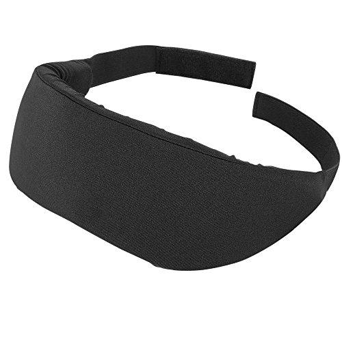 PLEMO アイマスク 立体型 超ソフト 優れる通気性 フィット感 快眠グッズ 男女兼用 睡眠補助 睡眠 旅行に最適 (ブラック)