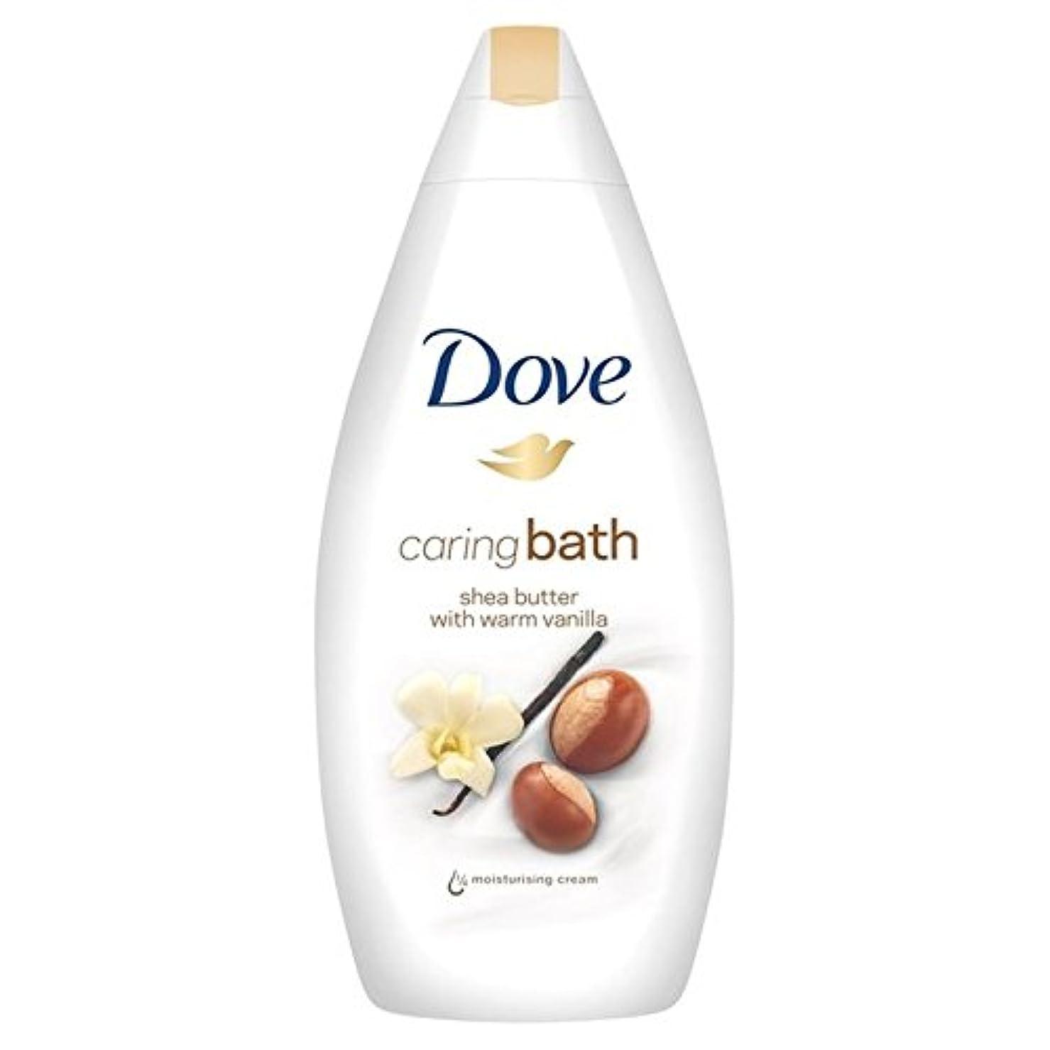 確立熟達した石膏鳩純粋な贅沢シアバター思いやりのあるクリームバス500ミリリットル x4 - Dove Purely Pampering Shea Butter Caring Cream Bath 500ml (Pack of 4) [並行輸入品]