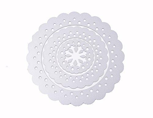 (デイリー スウィート)Daily Sweet スクラップブック 作りツール カード作り道具 ダイカットテンプレート 切り抜き紙が作れる型 円形 枠 スノーフレーク 3点セット