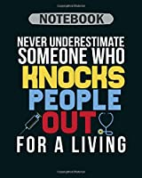 Notebook: funny nurse anesthetist graduation crna bsn rn - 50 sheets, 100 pages - 8 x 10 inches