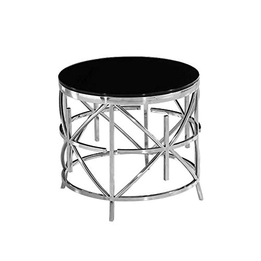 怒ってはしごポスト印象派サイドテーブルステンレス鋼現代アートステンレス鋼ラウンドエンドテーブルリビングルームソファコーヒーテーブル