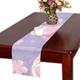 GGSXD テーブルランナー すばやい フラミンゴ クロス 食卓カバー 麻綿製 欧米 おしゃれ 16 Inch X 72 Inch (40cm X 182cm) キッチン ダイニング ホーム デコレーション モダン リビング 洗える