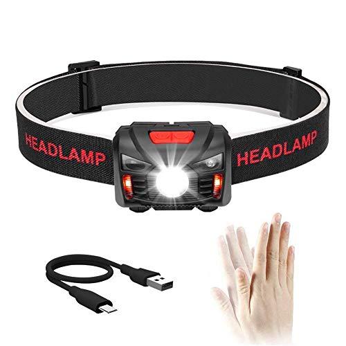 【充電式ヘッドライト】 LEDヘッドランプ 小型軽量 最高照度防水 登山/キャンプ/サイクリング/ハイキング/防災/夜釣り/非常時用