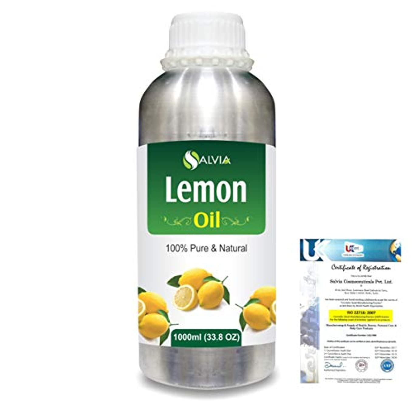 識別する舗装ひどくLemon (Citrus limonum) 100% Natural Pure Essential Oil 1000ml/33.8fl.oz.