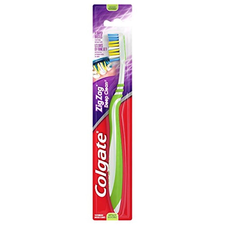 擬人化偉業種をまくColgate ジグザグディープクリーン歯ブラシ、ミディアム(6パック)
