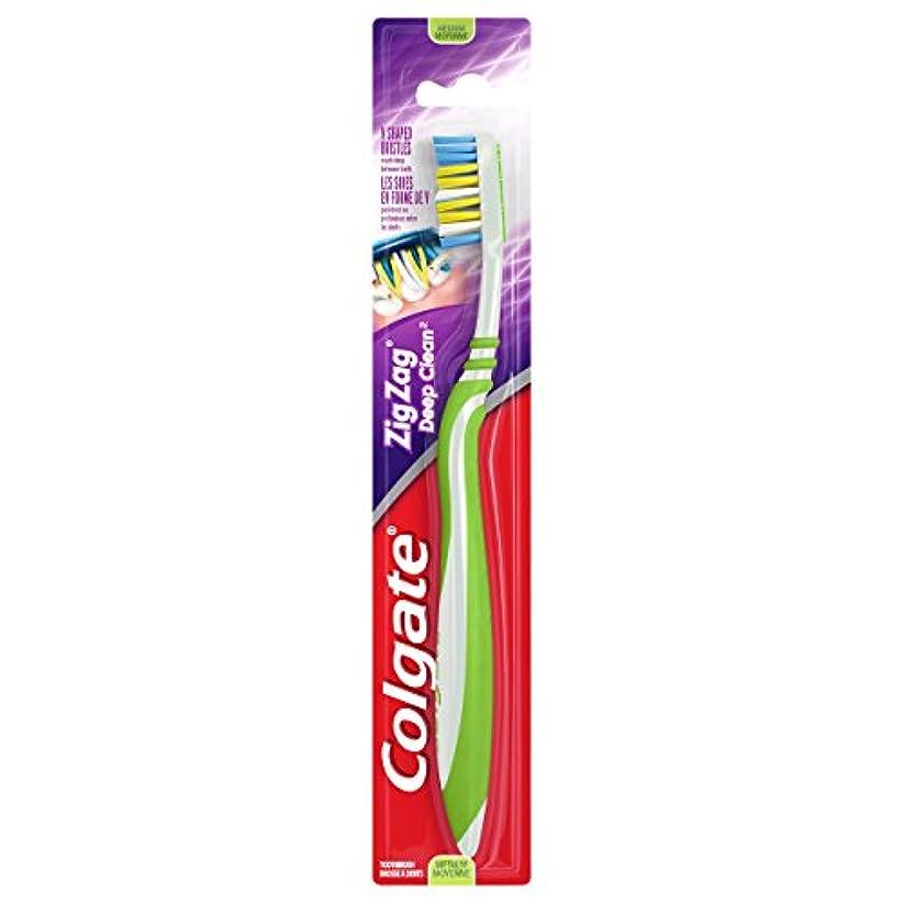 反毒めまい役員Colgate ジグザグディープクリーン歯ブラシ、ミディアム(6パック)