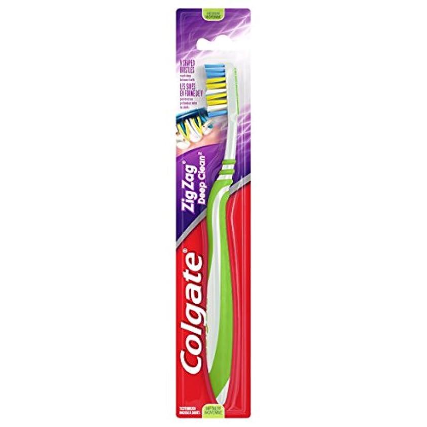 未接続ポップ長方形Colgate ジグザグディープクリーン歯ブラシ、ミディアム(6パック)