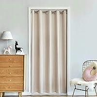 ZZRSドアドアのカーテンをスライドカーテン、パティオ - ワイド遮光カーテン、暖かいカーテンを保ち、ベージュガラスドアのドレープをスライディング (Size : 150×200cm)