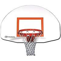 バスケットボールフロントマウントスチールBackboard withターゲット、35 in x 54 in