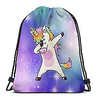 MSGUIDE Drawstring Backpack Bag Women & Men Sport Gym Sack Cinch Bag for Shopping Hiking Travel Beach