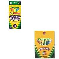 kitcyo520008cyo684012–Valueキット–Crayola Classic色パッククレヨン( cyo520008)とCrayola Long Barrel色付きWoodcase Pencils ( cyo684012)