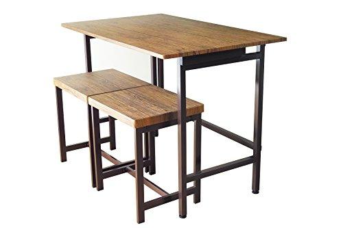 折りたたみデスク&チェア 3点セット 【FLAP & GRAIN】 リビングデスク 折りたたみ おしゃれ おすすめ 折りたたみデスク 鉄脚 スツール 幅100cm たためるテーブル デスク テーブル ダイニング 木製