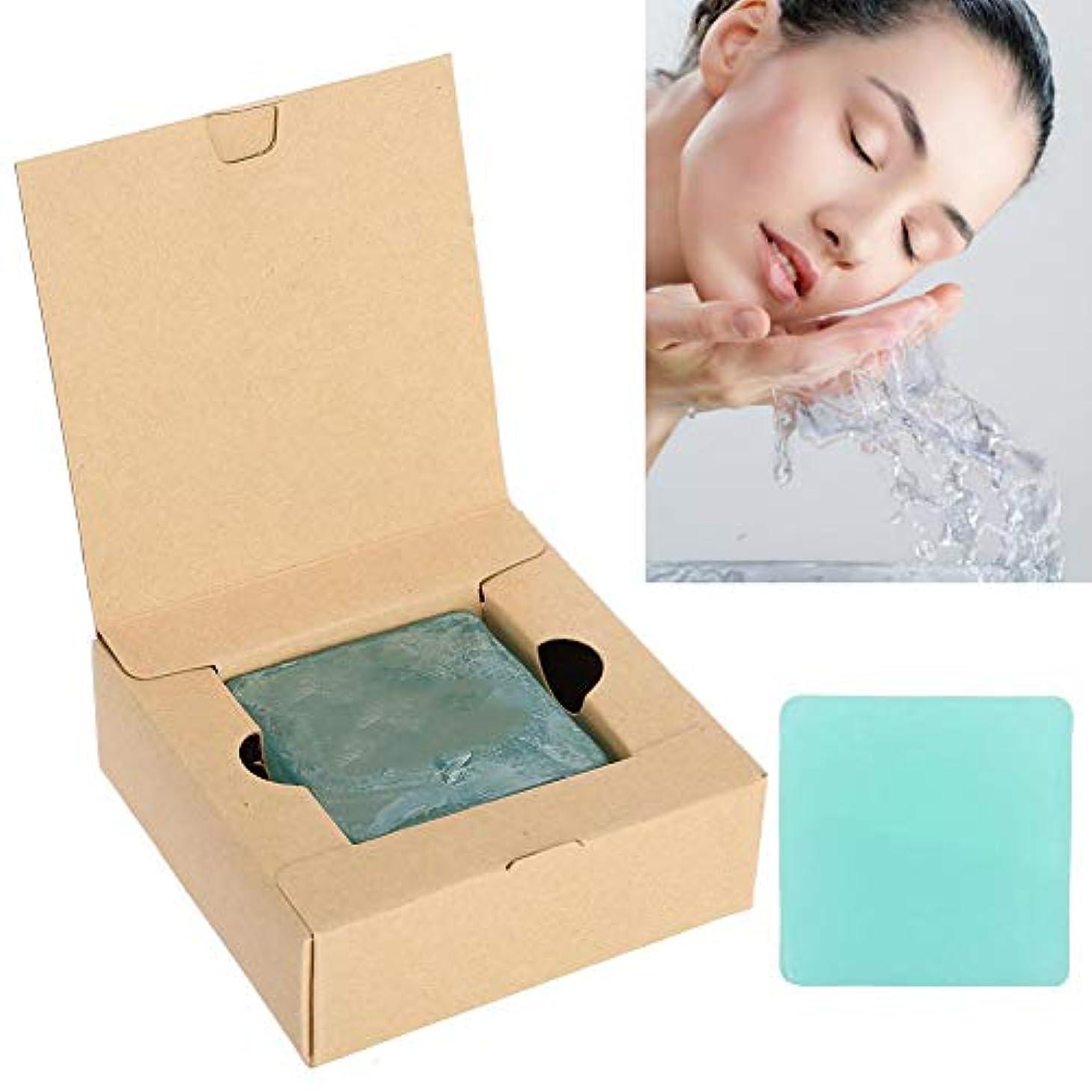 悪性の再編成する秘書手作り洗顔せっけん ハンドメイドソープ ティ-ツリーオイル 固形 お肌に優しい 敏感肌 毛穴ケア 100g