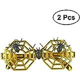 BESTOYARD スパイダーネットメガネハロウィンコスプレメガネ子供パーティーメガネハロウィンスパイダーネットデコレーション小道具ハロウィンコスチュームマスク2PCS