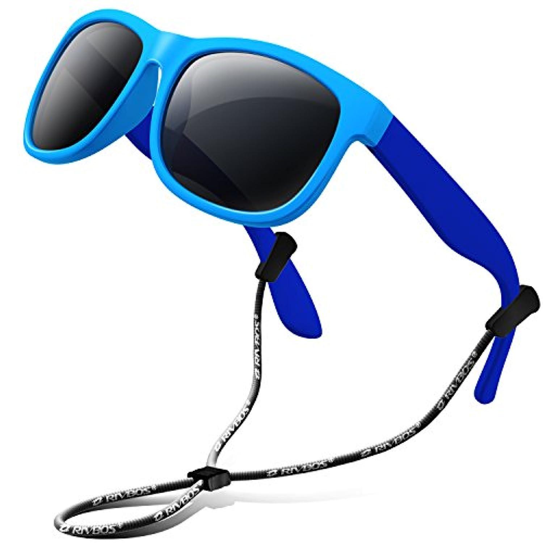 RIVBOS(リバッズ)RBK023 キッズ 子供用サングラス 偏光レンズ ゴムフレーム UVカット ボーイズサングラス サングラス