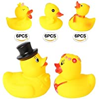 Set of 20 4.5 Bride and Groom Yellow Ducks Rubber Bath Toys Pure Natural Cute Rubber Ducky for Baby [並行輸入品]