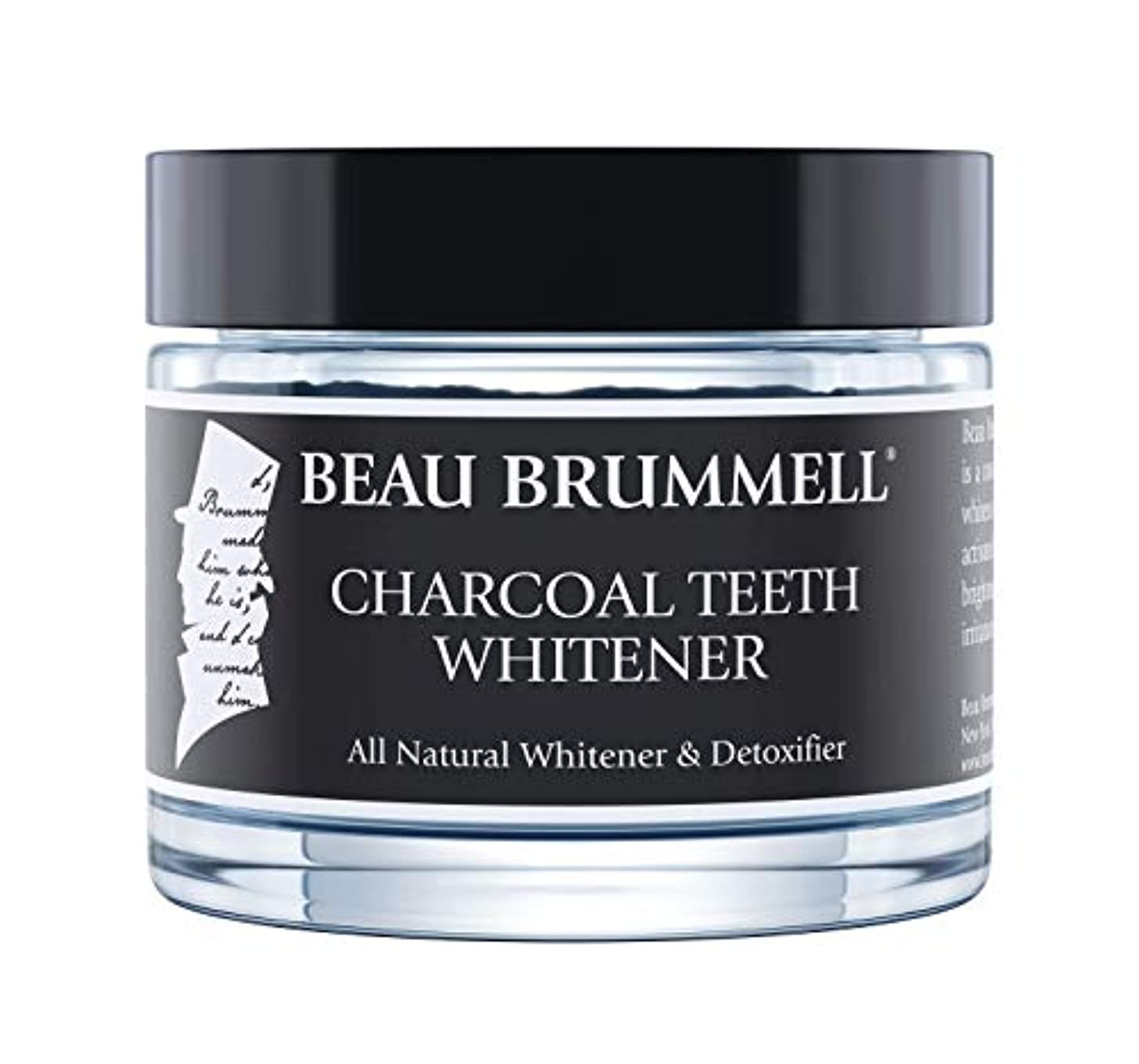 味到着する新着Beau Brummell チャコール歯ナーナチュラル炭オーガニックココナッツ炭グレードホワイトニングパウダーを活性化