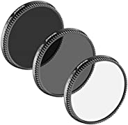 Neewer Multi-Coated 3 Pieces Filter Kit for DJI OSMO/Inspire 1, Aluminum Thread Designed and Ultra-High Defini
