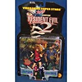 Claire Redfield with Aim & Shoot Action and Zombie Cop with Exploding Action - ビデオ Game Super スター Presents Capcom Resident Evil 2 Action フィギア