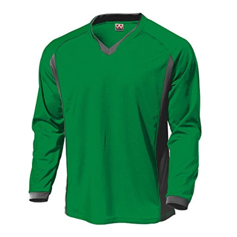 wundou(ウンドウ) P-1930ベーシックロングスリーブサッカーシャツ P-1930 グリーン 120