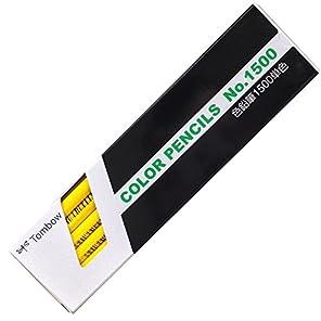 トンボ鉛筆 色鉛筆 1500単色 黄色 1ダース 1500-03