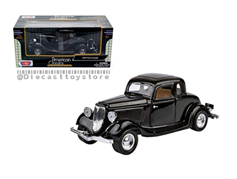 Motor Max DIECAST 1:24 W/B - American Classics - 1937 Ford Coupe (ブラック)