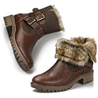 Women's Ankle Snow Rain Warm Boots Anti-Slip Waterproof Winter Booties