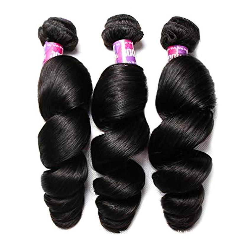 ブラジルのボディウェーブの毛100%Remyの人間の毛髪の織り方延長未処理のバージンのブラジルの毛(3束)