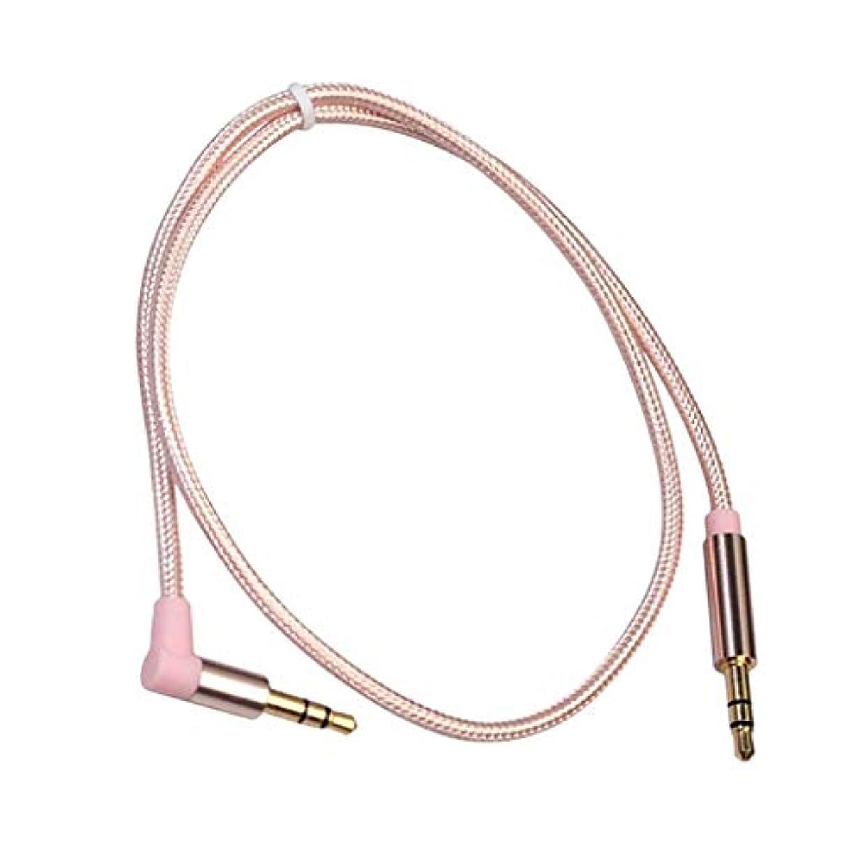 舌な答え出演者sharprepublic 全5サイズ オーディオケーブル 変換ケーブル 生地編み オス-オス 3.5 mmジャック 直角‐ストレート - 長さ約50cm