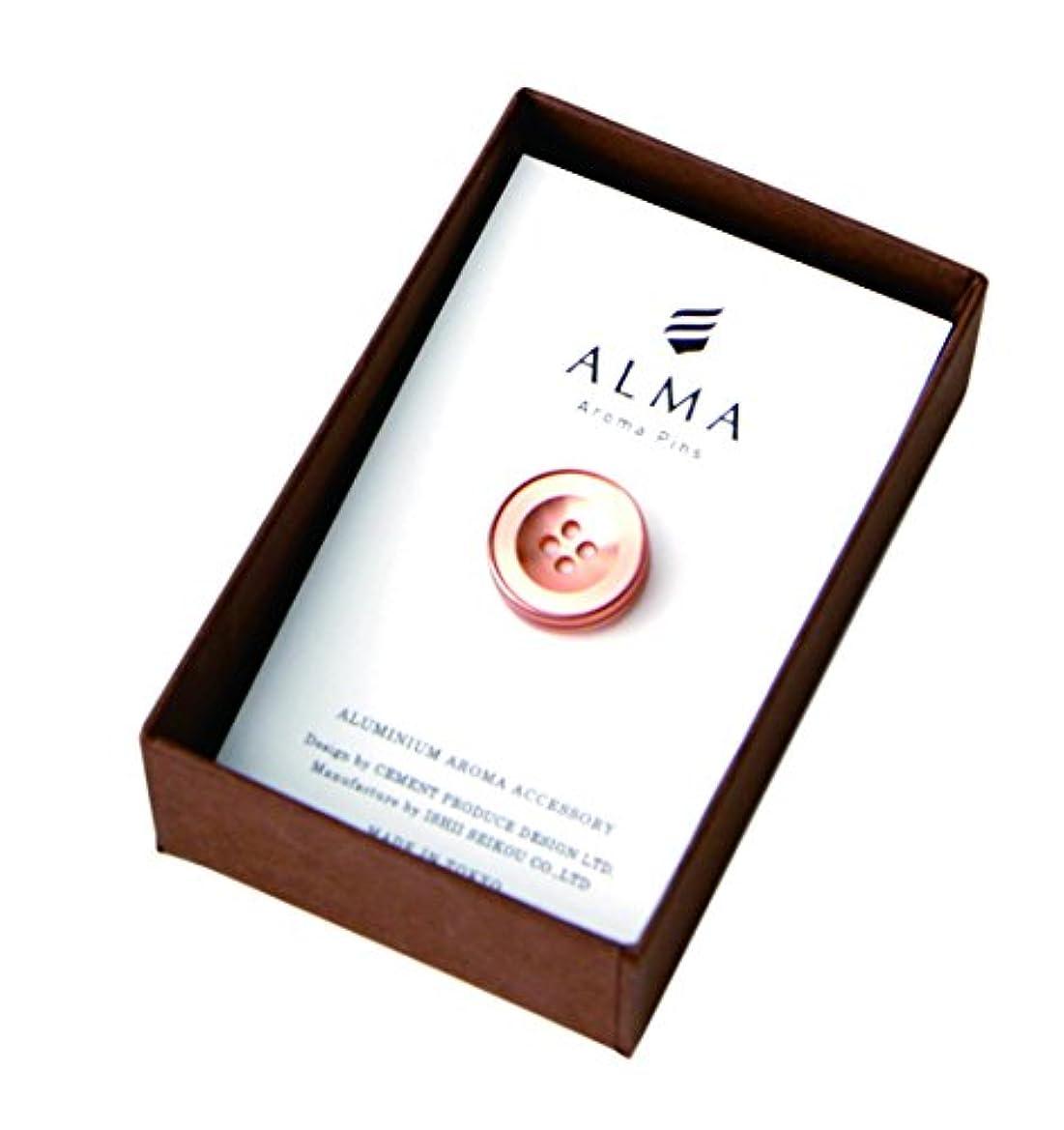 運搬壮大葉を集めるセメントプロデュースデザイン ALMA Aroma Pins ピンク 1.7×1.9×1.7cm ピンバッジ AM-01pk