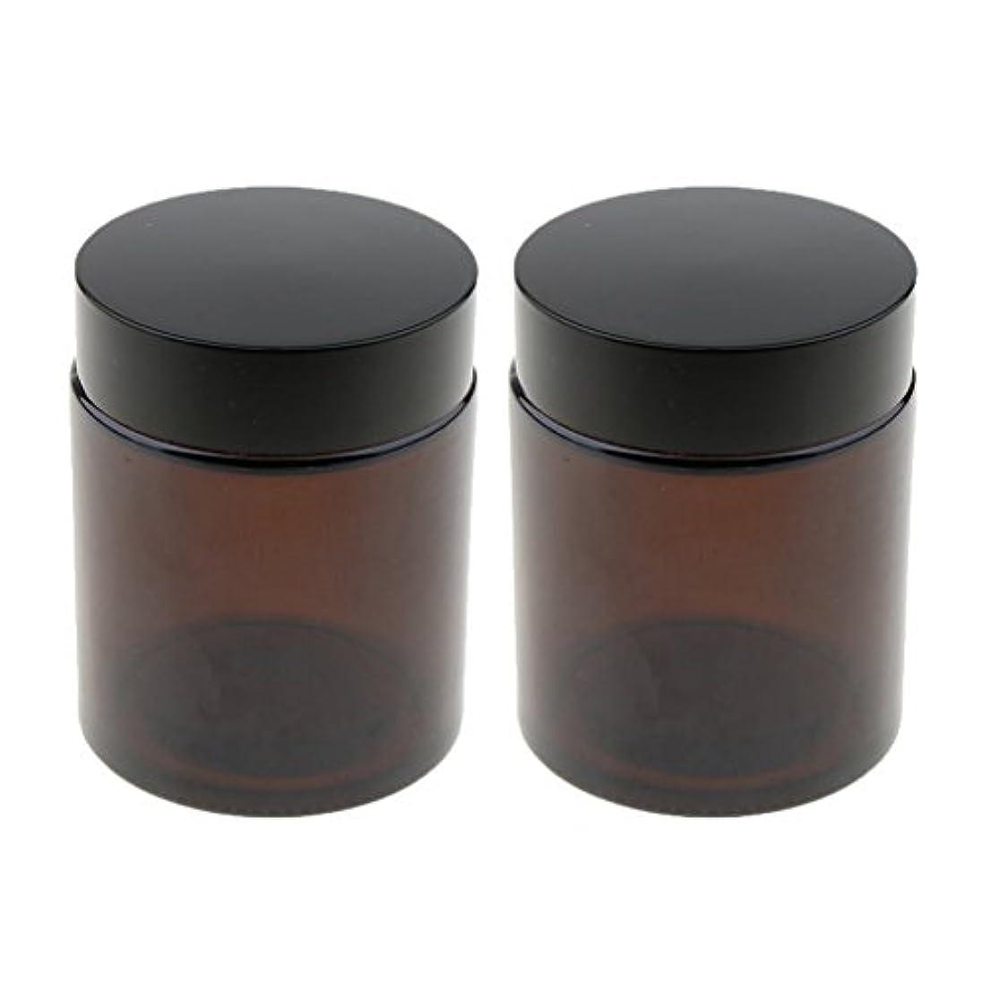 アヒル統計的収まるSharplace 空ボトル 小分け容器 メイクアップポット 空ジャー 詰替え用 ガラス製 100g 2個
