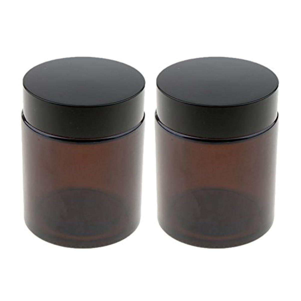 ダイジェスト卒業請求可能Sharplace 空ボトル 小分け容器 メイクアップポット 空ジャー 詰替え用 ガラス製 100g 2個