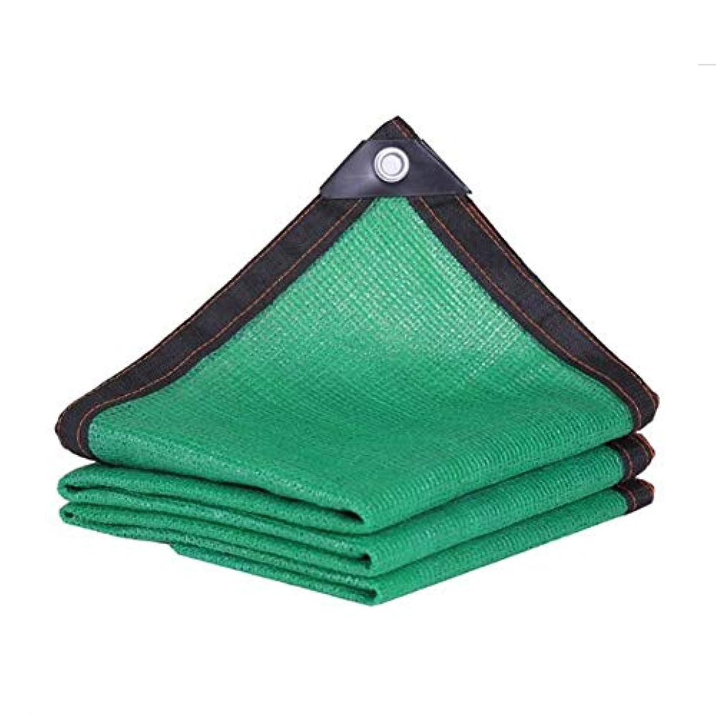 お手伝いさん抵抗力があるハッピーDALL ターポリン 日焼け止め布 シェーディング率90% シェードセイル アウトドア 日焼け止め 植物カバー 耐紫外線ネット (Color : Green, Size : 5×6m)