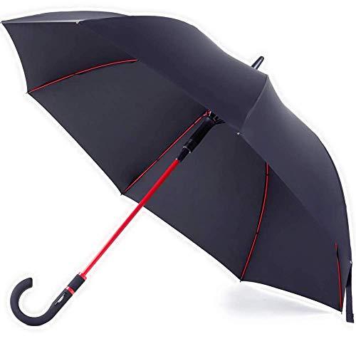 anngrowy 長傘 メンズ レディース 二層傘骨構造 ワンタッチ自動開け...