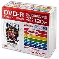 【まとめ 4セット】 HIDISC DVD-R 録画用5mmスリムケース10P HDDR12JCP10SC