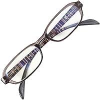 老眼鏡 NEW BL Cutter 801 バネ丁番 ブルーライトカット35% シンプルで締付け感なし 使いやすい老眼鏡 大ヒットモデル[PrePiar](グレー,+1.5)