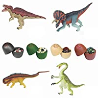 Mangjiu おもちゃ 子供 おもちゃ 新しい 20ピースdiy恐竜のおもちゃいっぱいイースターエッグ変形恐竜の卵コレクション 赤ちゃん おもちゃ 創造力無限大 (A)