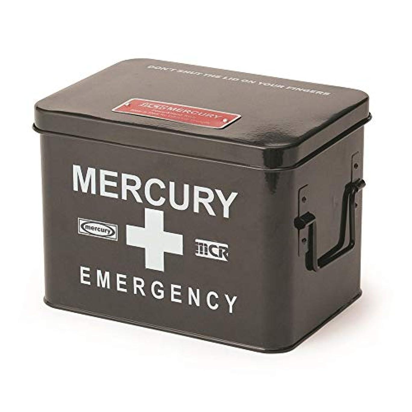 受け入れる居間逆にMERCURY マーキュリー 救急箱 エマージェンシーボックス 小物入れ 収納箱 BLACK ブラック